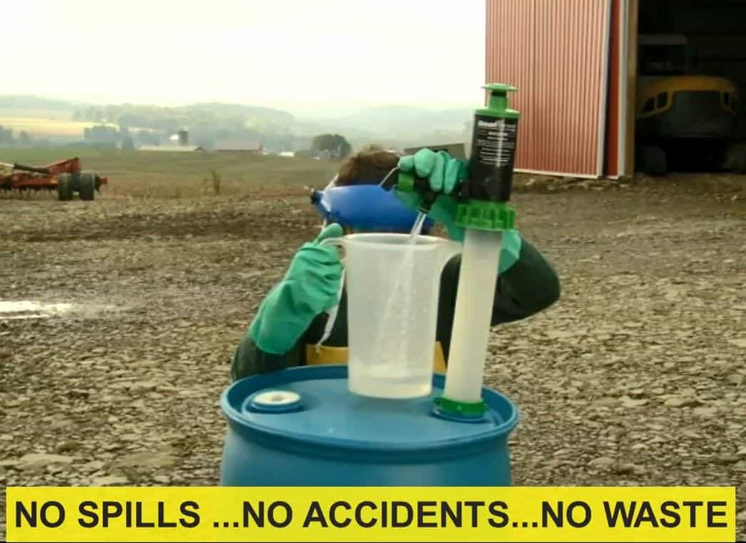 No Spill Farm Shot